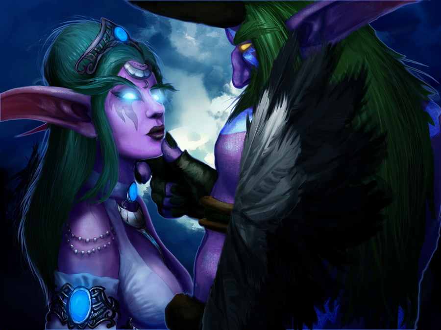 tyrande_and_malfurion_by_sandedfaceless-d5e6z0a